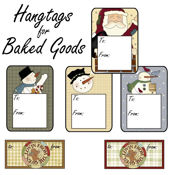 Hang tags for Baked Goods