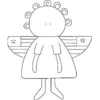Americana Angel Pattern