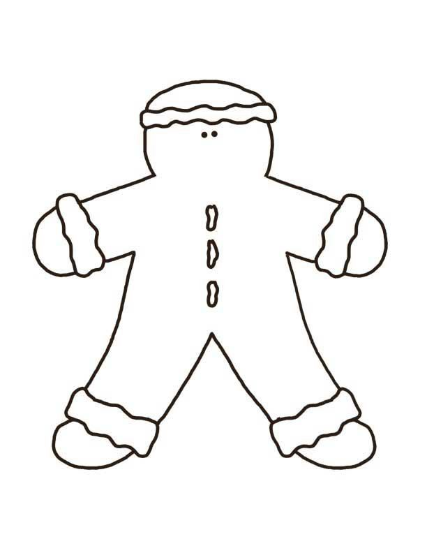 Gingerbread Man Pattern - Crafts