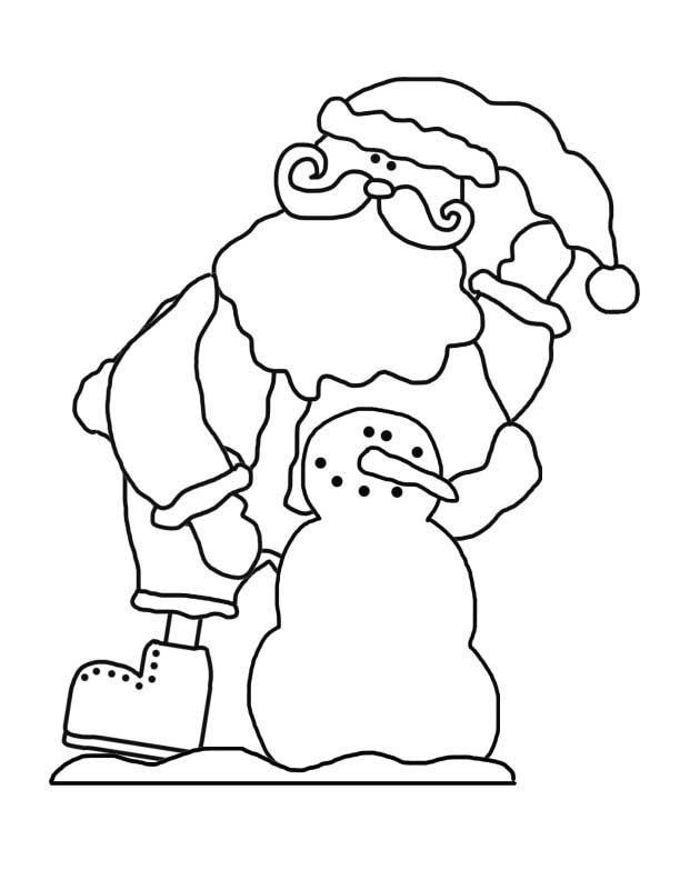Kris Kringle with Snowman - NorthPoleChristmas.com
