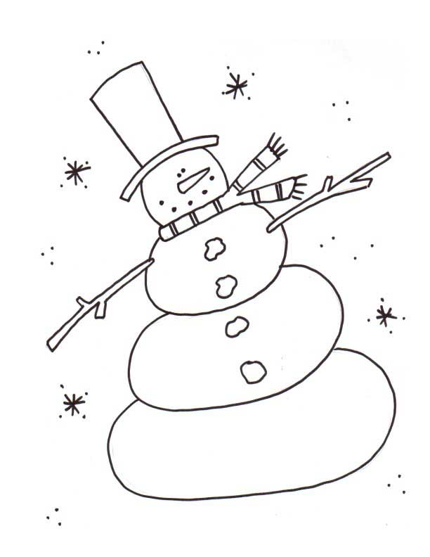 Snowman Template - NorthPoleChristmas.com