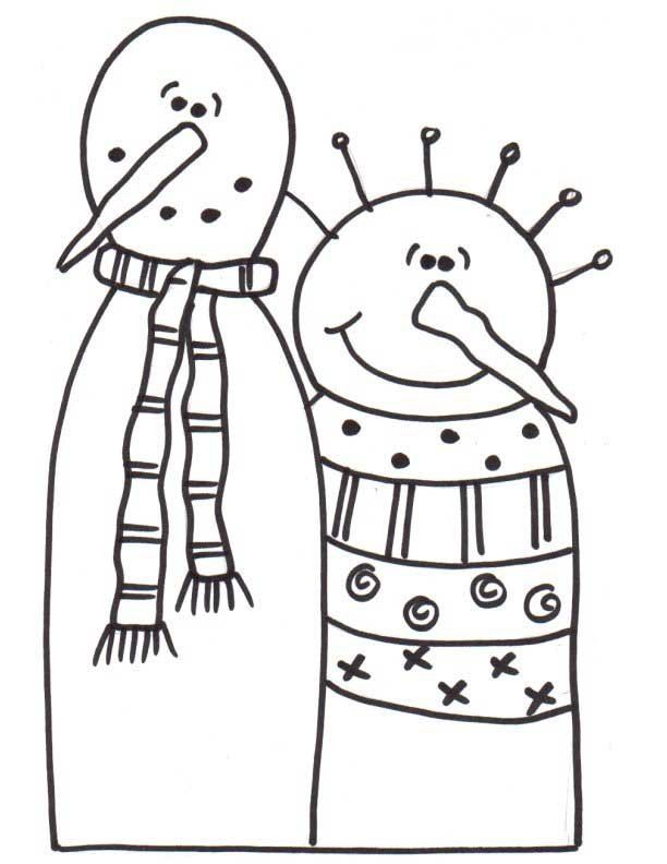 Mr. and Mrs. Snow Snowman Pattern