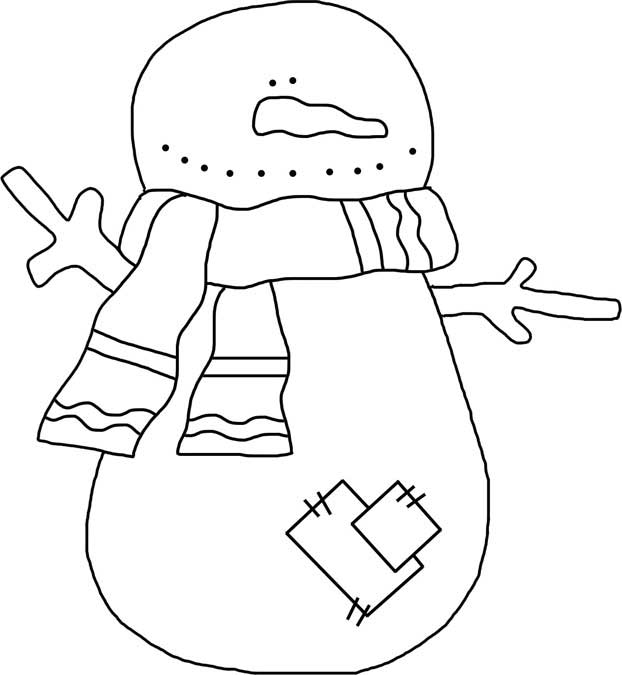 Printable Hobo Snowman Pattern
