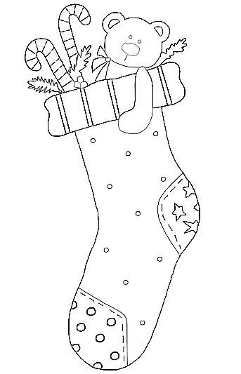 Christmas Stocking Template Filled with Presents