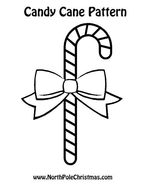 Peppermint Stick Template   Candy Cane Template