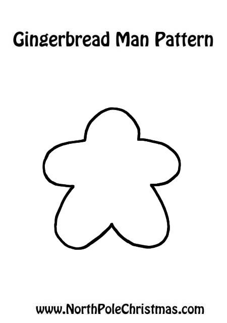 Gingerbread Man Template - NorthPoleChristmas.com