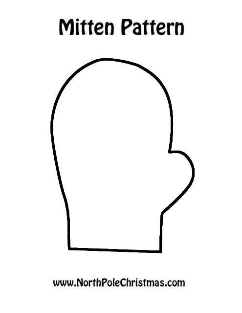 It is an image of Printable Mitten intended for line drawing