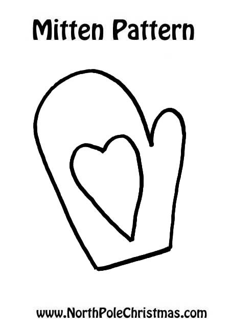 picture relating to Mitten Template Printable referred to as Mitten Template with Centre - Free of charge Printable - Designs, Crafts