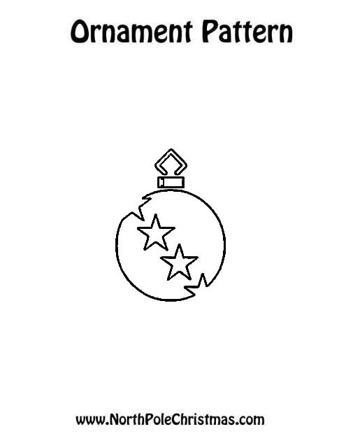 Ornament with Stars - NorthPoleChristmas.com