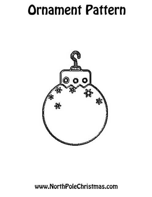 Christmas Ornament Template - NorthPoleChristmas.com