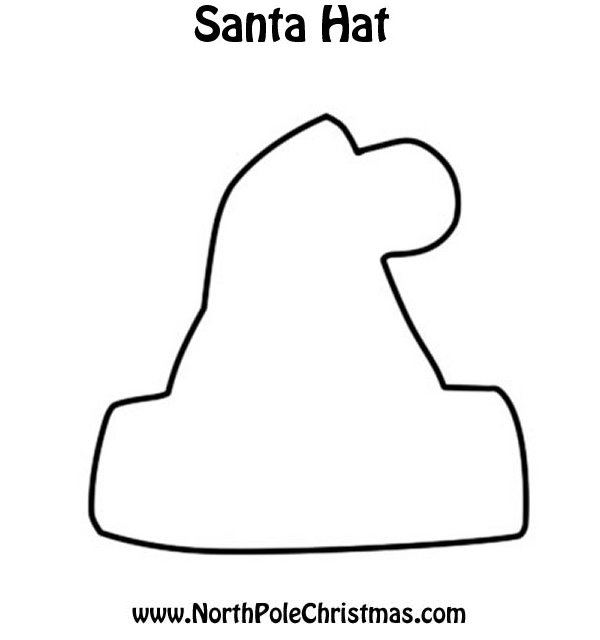 Santa Hat Template - NorthPoleChristmas.com