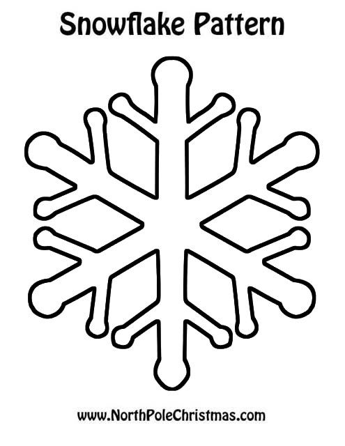 Snowflake Template - NorthPoleChristmas.com
