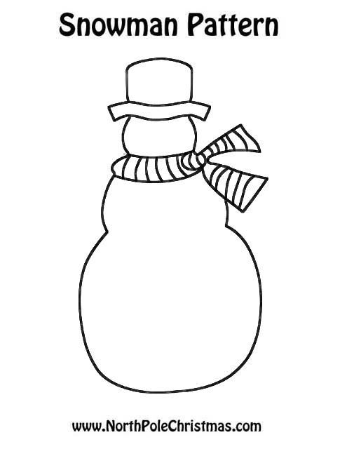 Snowman Craft Template - NorthPoleChristmas.com