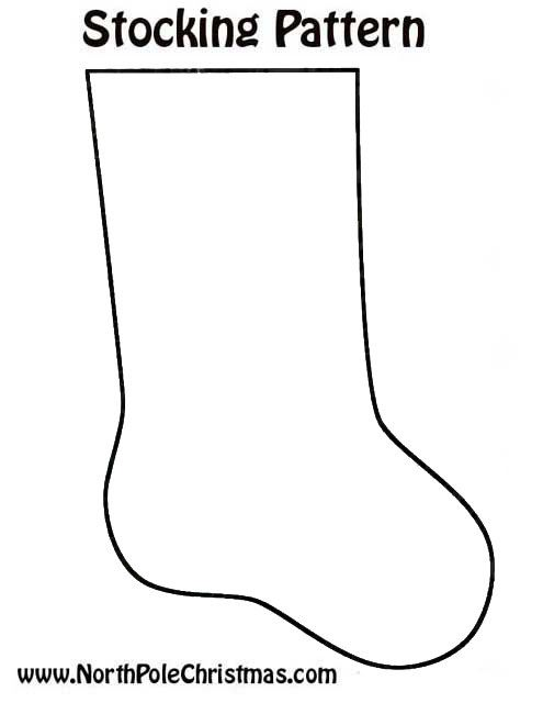 stocking template free printable  Free Christmas Stocking Template - Christmas Stocking Outline
