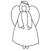 Angel Template 34 Angel Outlines Christmas Angel
