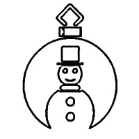 Ornament with Snow Man