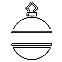 Ornament with Horizontal Lines