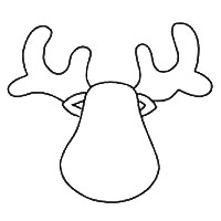 Reindeer Cut Out Template