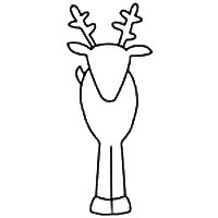Printable Reindeer Template