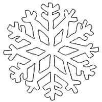 Snowflake Printable Outline