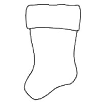 graphic regarding Stocking Pattern Printable known as Xmas Stocking Template - 24 Printable Outlines