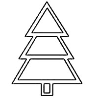 Christmas Tree Template - For Crafts, Coloring Pages, Shapes