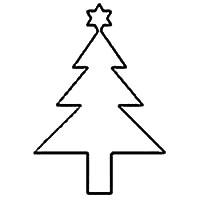 Christmas Tree Outline 21 Free Christmas Tree Templates