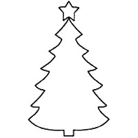 small christmas tree coloring pages - photo#18