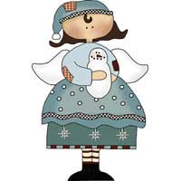Winter Angel Ornament Template