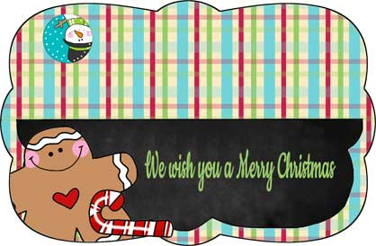 4-inch Gingerbread Plaid Bag Topper