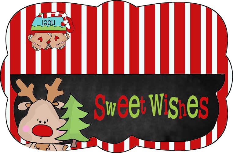 7-inch Sweet Wishes Bag Topper - NorthPoleChristmas.com