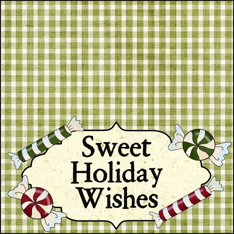 7-inch Sweet Holiday Wishes Bag Topper - NorthPoleChristmas.com