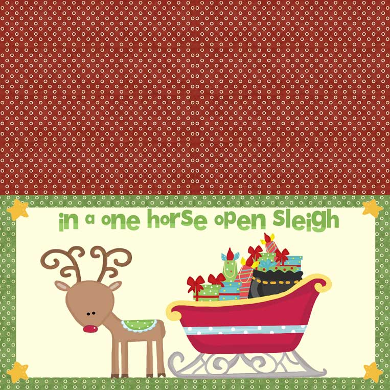 7-inch Sleigh Bag Topper to Print - NorthPoleChristmas.com