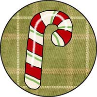 Candy Cane Ornament Template