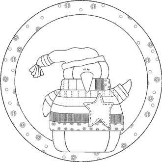 Line drawing of ornament
