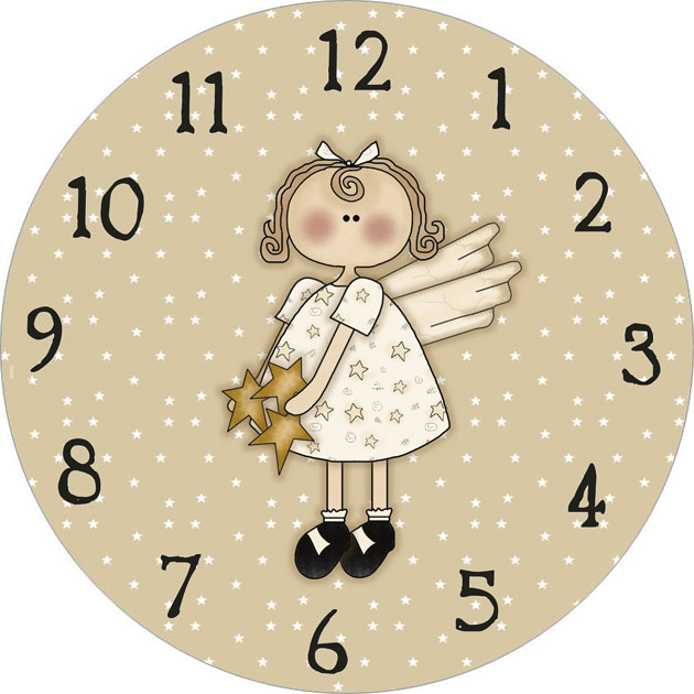 Angel Clock Face