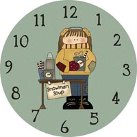 drink stand clock face
