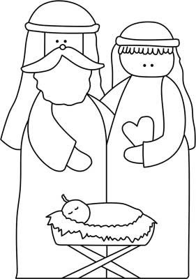 nativity scene craft template