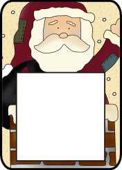 Santa Post It Pattern