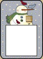 Snowman Post It Holder