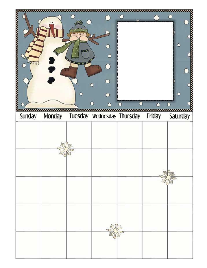 January Printable Calendar - NorthPoleChristmas.com