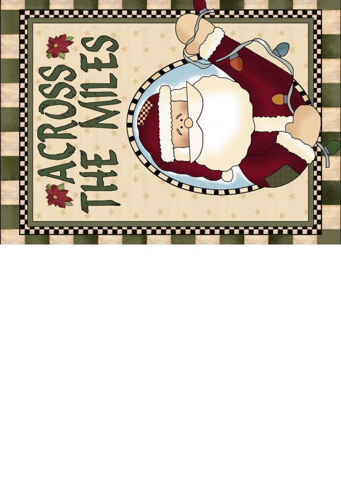 Free Christmas Card to Print or Download - Across the Miles