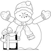 Snowman With Package