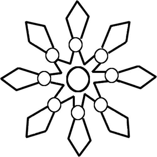 Snowflake Outline - NorthPoleChristmas.com