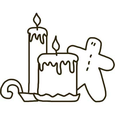 Printable Candle Template and Gingerbread Man - NorthPoleChristmas.com