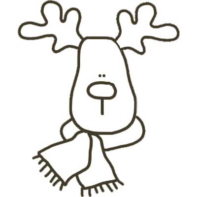 Printable Reindeer with Scarf Template - NorthPoleChristmas.com