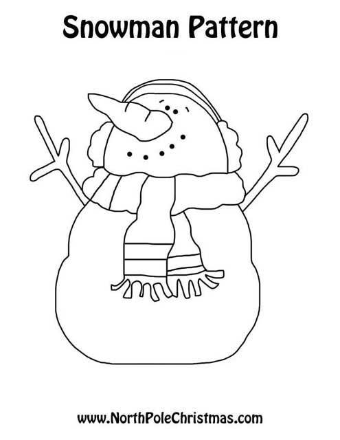 Jolly Snowman Template - NorthPoleChristmas.com