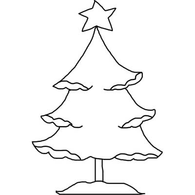 photo about Printable Christmas Tree Template named Printable Xmas Tree Template with Snow Absolutely free Determine