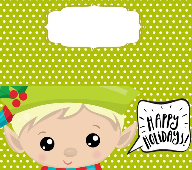 Bag Toppers - Elf Candy Bag Topper - Treat Bag Ideas