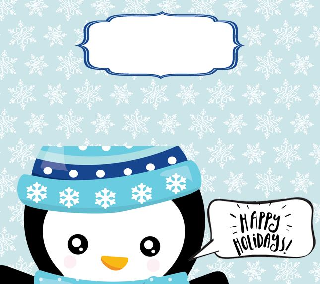 Free Printable Christmas Treat Bag Toppers - Penguin